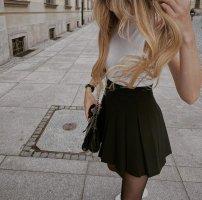 H&M Jupe plissée noir coton