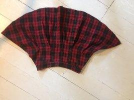 H&M Plaid Skirt black-red