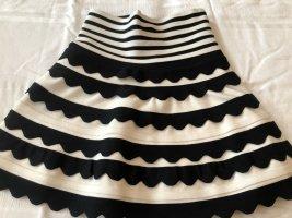 Flared Skirt black-white