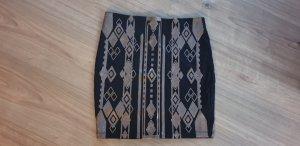 Orsay Spódnica ze stretchu czarny-brąz