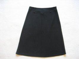 rock A-linie schwarz knielang gr. xs 34 xnk basic