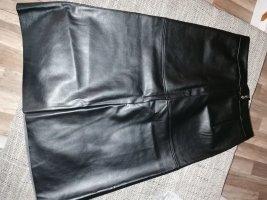 Pieces Spódnica z imitacji skóry czarny