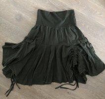 Ohne Asymmetry Skirt dark green-meadow green cotton