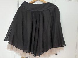 Steps Tulle Skirt black-nude