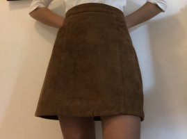 Abercrombie & Fitch Leather Skirt brown