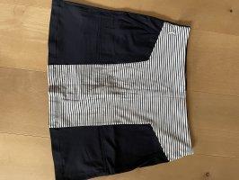 Golfino Minigonna blu scuro-bianco