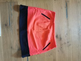 Ann Christine Mini rok zwart-oranje