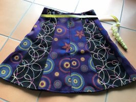 Jupe en laine multicolore