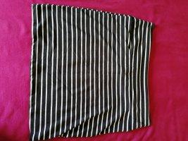 Kik High Waist Skirt white-black