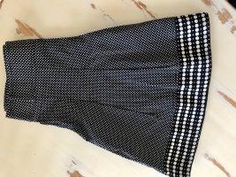 Dept Plisowana spódnica czarny-biały