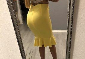 pineapple Volanten rok geel