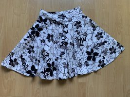 3 Suisses Flared Skirt white-black