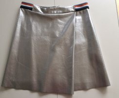 Hugo Boss Faux Leather Skirt silver-colored polyester