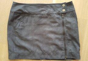 Mexx Faux Leather Skirt dark grey