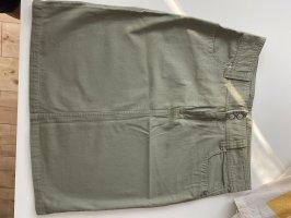 Denim Skirt khaki cotton