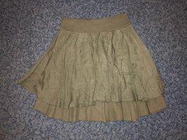Asymmetrische rok khaki