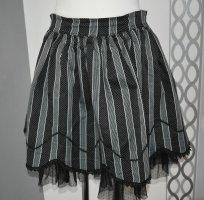 Falda de tul negro-gris
