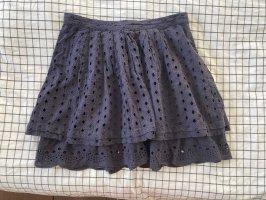 Max & Co. Koronkowa spódnica ciemnoniebieski-stalowy niebieski Bawełna