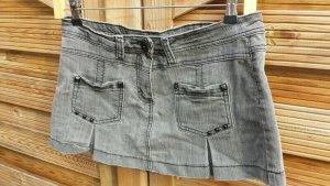 Fishbone Minigonna grigio scuro-grigio Cotone