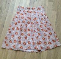 Only Falda midi blanco-naranja