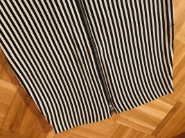 H&M Falda stretch blanco-negro