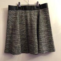 H&M Jupe tricotée noir-gris