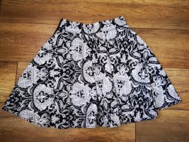 Amisu Spódnica z koła biały-czarny