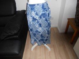 Falda con volantes azul-azul neón poliamida