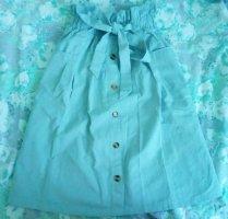 SheIn Plaid Skirt pale blue