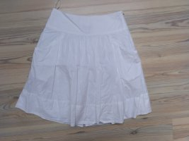 MNG SUIT Plaid Skirt white