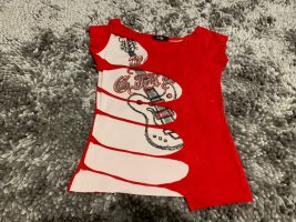 Top cut out rojo-blanco