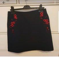 Reserved Mini rok donkerrood-donkerblauw