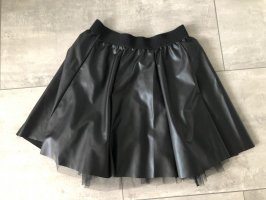Boohoo Jupe en cuir synthétique noir