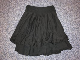 Asymmetrische rok zwart