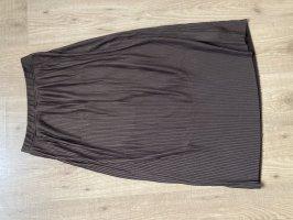 H&M Plaid Skirt black brown