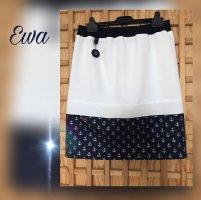 Handmade Midi Skirt white-blue cotton
