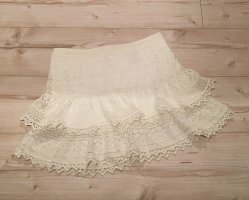 H&M Lace Skirt natural white-white