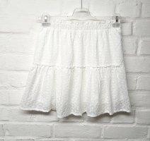 Seamlessfashion Spódnica z falbanami biały Bawełna
