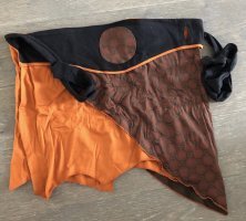 Rock Tanzrock Wickelrock schwarz braun rust 36-40 Baumwolle