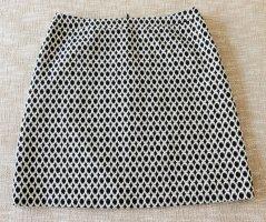 Comma Spódnica mini biały-czarny Bawełna