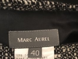 Marc Aurel Tweed Skirt white-black wool