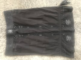 Review Miniskirt grey brown-silver-colored