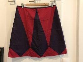 Skunkfunk Gonna midi rosso scuro-viola scuro Cotone