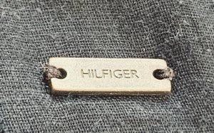 Tommy Hilfiger Jupe mi-longue blanc-bleu foncé