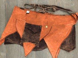 Ohne Kopertowa spódnica ciemny pomarańcz-ciemnobrązowy Bawełna