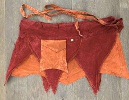 Ohne Kopertowa spódnica ciemnoczerwony-pomarańczowy neonowy Bawełna
