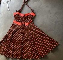 Collectif Vestido con enagua negro-rojo