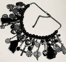 Sheego Statement Necklace black-silver-colored