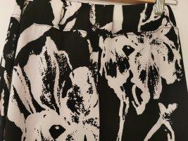 Culotte Skirt white-black