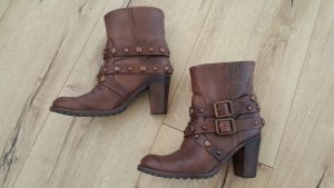 Dumond Slip-on Booties brown